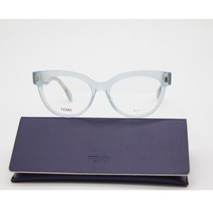 New FENDI Eyeglasses FF 0464 MVU AZURE FF0464